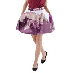 Abstract Painting Edinburgh Capital Of Scotland A Line Pocket Skirt