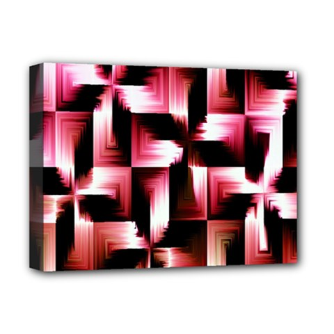 Red And Pink Abstract Background Deluxe Canvas 16  X 12   by Simbadda