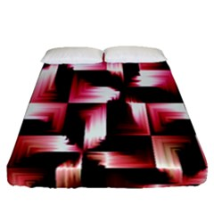 Red And Pink Abstract Background Fitted Sheet (queen Size) by Simbadda