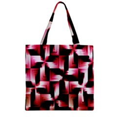 Red And Pink Abstract Background Zipper Grocery Tote Bag by Simbadda