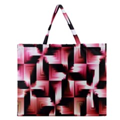 Red And Pink Abstract Background Zipper Large Tote Bag