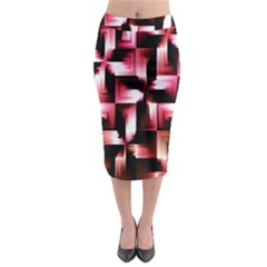 Red And Pink Abstract Background Midi Pencil Skirt