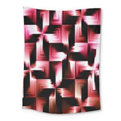 Red And Pink Abstract Background Medium Tapestry by Simbadda