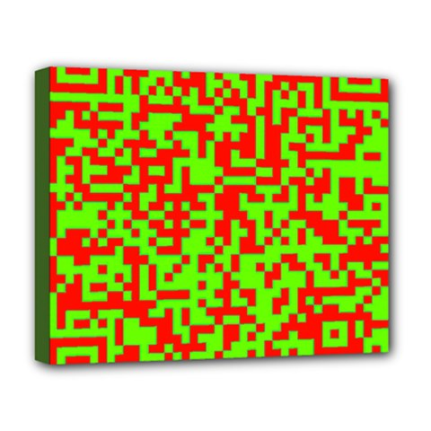 Colorful Qr Code Digital Computer Graphic Deluxe Canvas 20  X 16