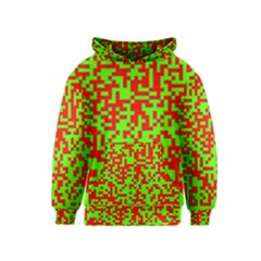 Colorful Qr Code Digital Computer Graphic Kids  Pullover Hoodie by Simbadda
