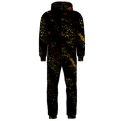 Abstract Background Hooded Jumpsuit (men)