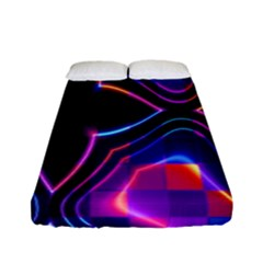 Rainbow Abstract Background Pattern Fitted Sheet (full/ Double Size)
