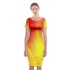 Realm Of Dreams Light Effect Abstract Background Classic Short Sleeve Midi Dress by Simbadda