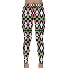 Abstract Pinocchio Journey Nose Booger Pattern Classic Yoga Leggings by Simbadda