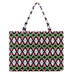 Abstract Pinocchio Journey Nose Booger Pattern Medium Zipper Tote Bag