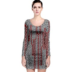 Abstract Geometry Machinery Wire Long Sleeve Bodycon Dress by Simbadda