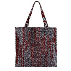 Abstract Geometry Machinery Wire Zipper Grocery Tote Bag by Simbadda