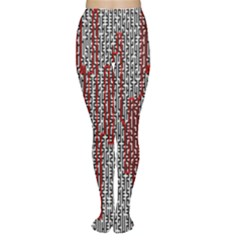Abstract Geometry Machinery Wire Women s Tights by Simbadda