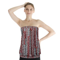 Abstract Geometry Machinery Wire Strapless Top