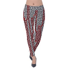 Abstract Geometry Machinery Wire Velvet Leggings