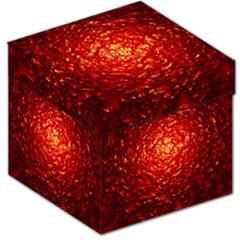 Abstract Red Lava Effect Storage Stool 12   by Simbadda