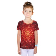 Abstract Red Lava Effect Kids  One Piece Tee by Simbadda