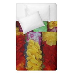 Colorful Hawaiian Lei Flowers Duvet Cover Double Side (single Size) by Simbadda