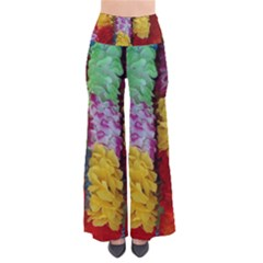 Colorful Hawaiian Lei Flowers Pants by Simbadda