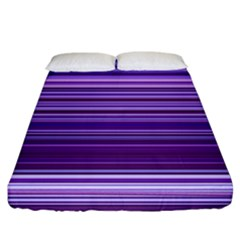 Stripe Colorful Background Fitted Sheet (king Size) by Simbadda