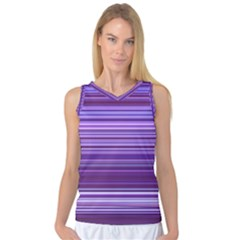 Stripe Colorful Background Women s Basketball Tank Top by Simbadda