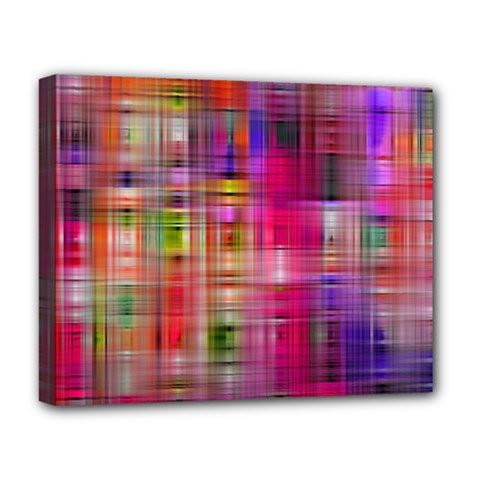 Background Abstract Weave Of Tightly Woven Colors Deluxe Canvas 20  X 16   by Simbadda