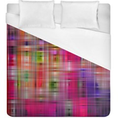 Background Abstract Weave Of Tightly Woven Colors Duvet Cover (king Size) by Simbadda