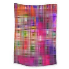 Background Abstract Weave Of Tightly Woven Colors Large Tapestry by Simbadda