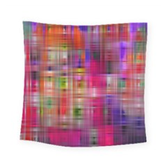 Background Abstract Weave Of Tightly Woven Colors Square Tapestry (small)