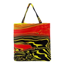 Abstract Clutter Grocery Tote Bag by Simbadda