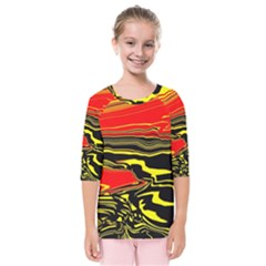 Abstract Clutter Kids  Quarter Sleeve Raglan Tee by Simbadda