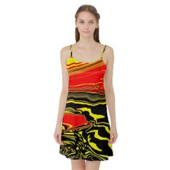 Abstract Clutter Satin Night Slip