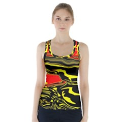 Abstract Clutter Racer Back Sports Top by Simbadda