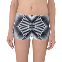 Black And White Line Abstract Reversible Bikini Bottoms