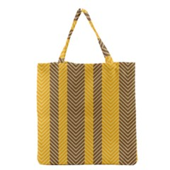 Brown And Orange Herringbone Pattern Wallpaper Background Grocery Tote Bag