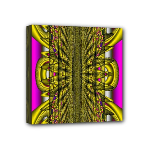 Fractal In Purple And Gold Mini Canvas 4  X 4  by Simbadda