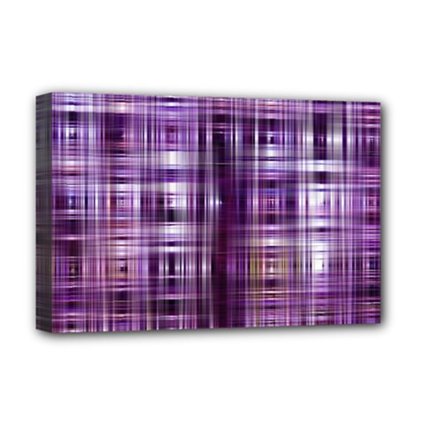 Purple Wave Abstract Background Shades Of Purple Tightly Woven Deluxe Canvas 18  X 12   by Simbadda
