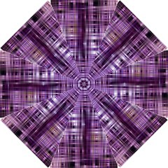 Purple Wave Abstract Background Shades Of Purple Tightly Woven Hook Handle Umbrellas (small) by Simbadda