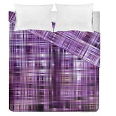 Purple Wave Abstract Background Shades Of Purple Tightly Woven Duvet Cover Double Side (queen Size)