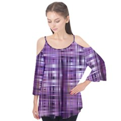 Purple Wave Abstract Background Shades Of Purple Tightly Woven Flutter Tees