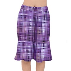 Purple Wave Abstract Background Shades Of Purple Tightly Woven Mermaid Skirt