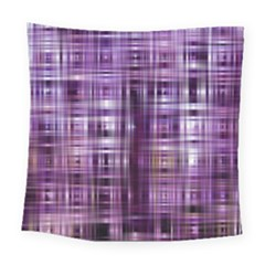 Purple Wave Abstract Background Shades Of Purple Tightly Woven Square Tapestry (large)