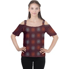 Abstract Dotted Pattern Elegant Background Women s Cutout Shoulder Tee by Simbadda