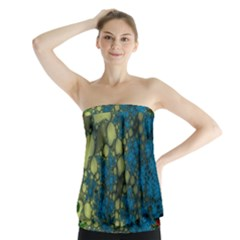 Holly Frame With Stone Fractal Background Strapless Top