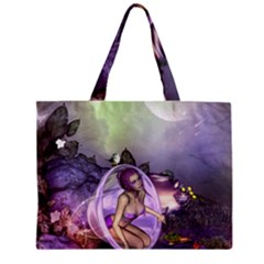 Wonderful Fairy In The Wonderland , Colorful Landscape Mini Tote Bag by FantasyWorld7