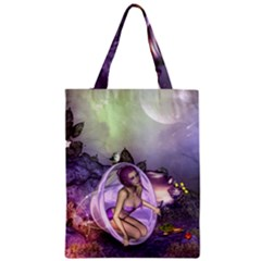 Wonderful Fairy In The Wonderland , Colorful Landscape Classic Tote Bag by FantasyWorld7
