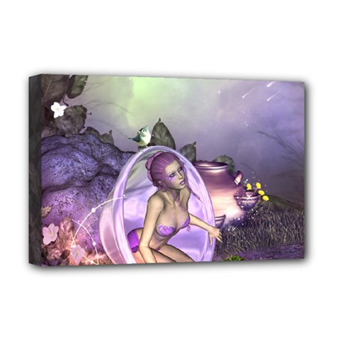 Wonderful Fairy In The Wonderland , Colorful Landscape Deluxe Canvas 18  X 12   by FantasyWorld7
