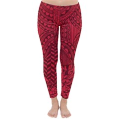 Deep Red Background Abstract Classic Winter Leggings