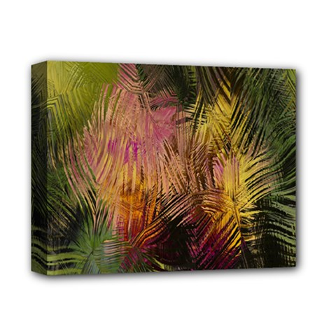 Abstract Brush Strokes In A Floral Pattern  Deluxe Canvas 14  X 11  by Simbadda
