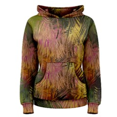Abstract Brush Strokes In A Floral Pattern  Women s Pullover Hoodie by Simbadda